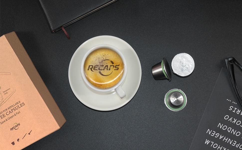 Cápsulas recargables de acero inoxidable para máquinas Nespresso OriginalLine