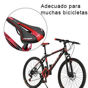 OUTERDO Sillín de Bicicleta MTB Gel Cómodo Silla de Montar Trekking Ciudad 27*15CM: Amazon.es: Deportes y aire libre