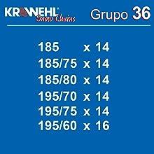 KRAWEHL 3403.0011405/Cha/înes /à Neige Groupe 40
