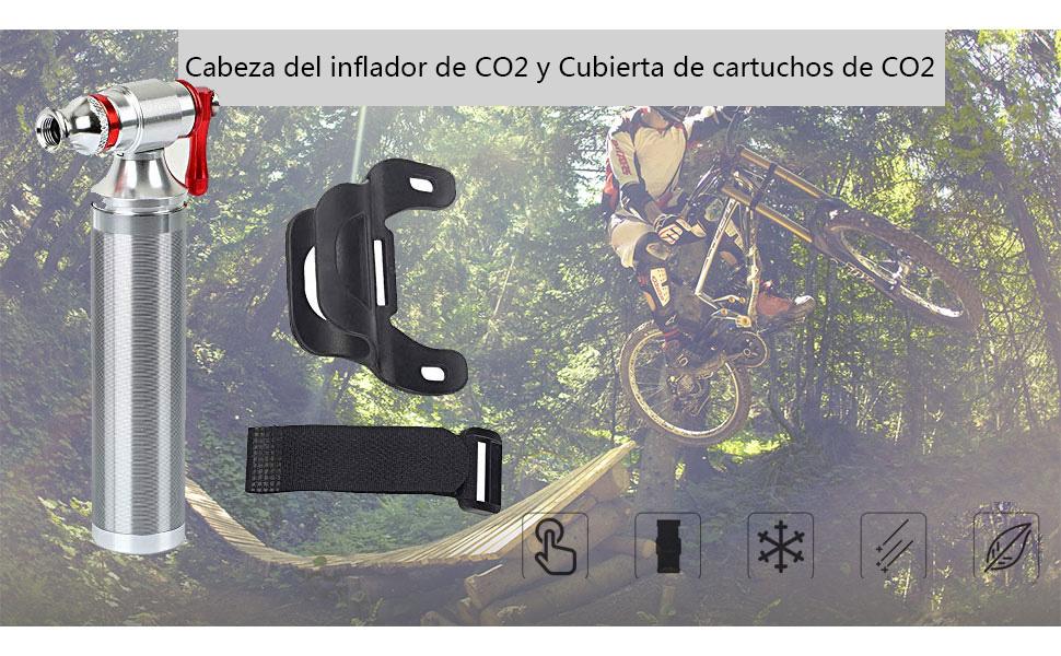 POWERAXIS Cabeza del Inflador de CO2 - Rápido, Fácil y Seguro ...