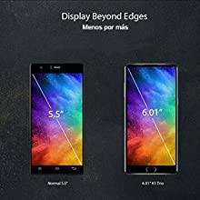 KOOLNEE K1 Smartphone 4G Desbloqueado Sin bisel 6 GB RAM + 128 GB ROM 6.01 pulgadas FHD Android 7.1 Helio P23 Octa Core 2.0 GHz Doble cámara trasera 16.0 MP + 2.0