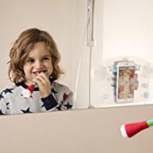 Playbrush Smart es adecuado para cualquier cepillo de dientes manual común, eg: Señal o Mentadent con filamentos extra suaves ...