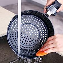 Aigostar Dragon Pro 30LDX - Freidora de aire sin aceite, capacidad 3,2 l, 1400W, cesta antiadherente, selector de temperatura 80-200°, apagado automático. Libre de BPA. Diseño exclusivo.: Amazon.es: Hogar
