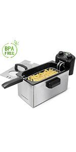 Aigostar Fries 30IZD - Freidora compacta de 1,5L, libre de ...