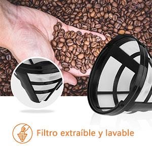 Aigostar Chocolate 30HIK–Máquina de Café, 1000w Cafetera de Filtro ...