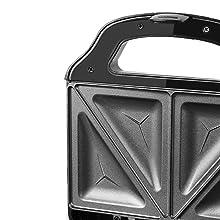 Aigostar Cieplo Steel 30CEX - Sandwichera Electrica con Capacidad para 2 Sándwiches Tostados de 700W. Acero inoxidable. Antiadherente 2 Sandwiches y 2 ...