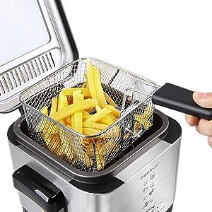 Aigostar Fries 30IZD - Freidora compacta de 1,5 litros, libre de ...