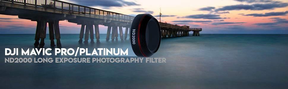 Freewell ND1000-Filtro de fotograf/ía de Larga exposici/ón Compatible con dji Mavic Air