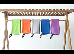 Overmont microfibra toalla compacta asegura la absorción inesperado y eficiencia de secado rápido, mientras se siente cálido y soft.