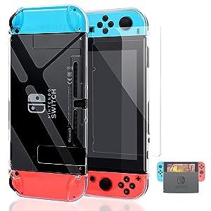HEYSTOP 6en1 Accesorios para Nintendo Switch,Funda Nintendo Switch,Switch Carcasa,Protector de Pantalla,Funda de TPU,Thumb Grips,Poke Ball Plus Fundas ...