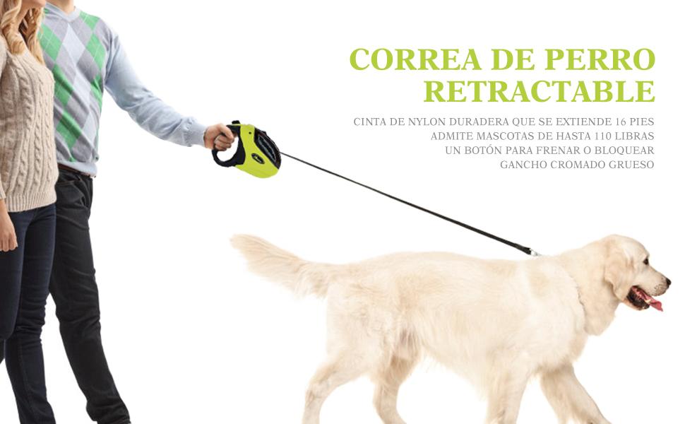 Pecute Correas para Perros, Correas Extensibles para Perros Tamaño ...