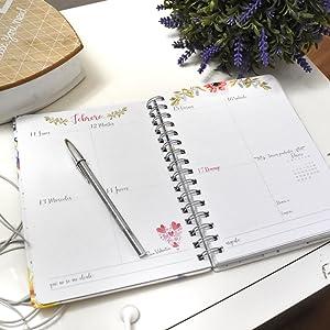 Agenda 2019 clásica Flores