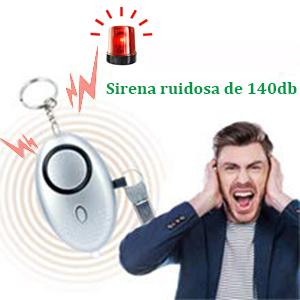 3 PCS Alarma Personal, VOOKI Alto Decibeles Alarma con Función de Iluminación para Seguimiento/Pánico/Seguridad/Ataque/Protección
