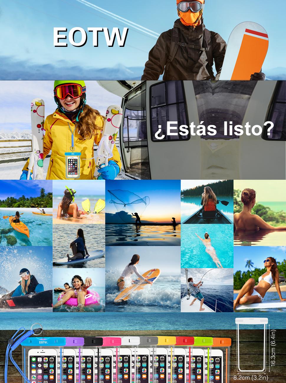 EOTW Funda Impermeable Móvil ☆ Prepárate para la próxima aventura. Estuche  impermeable universal EOTW diseñado exclusivamente para la mayoría de los  ... a11618db95c