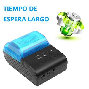 PowerLead Mini Blanco y Negro Impresora Térmica Directa Inalámbrica Portátil de Alta Velocidad de 58mm, Compatible con Android y Sistemas iOS y ...