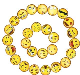 UBAOXIN Imanes Nevera 25 Pieza Lindo Emoji Fuerte Magn/ético Adecuado para Algunas Superficies de Metal como la Puerta del Refrigerador