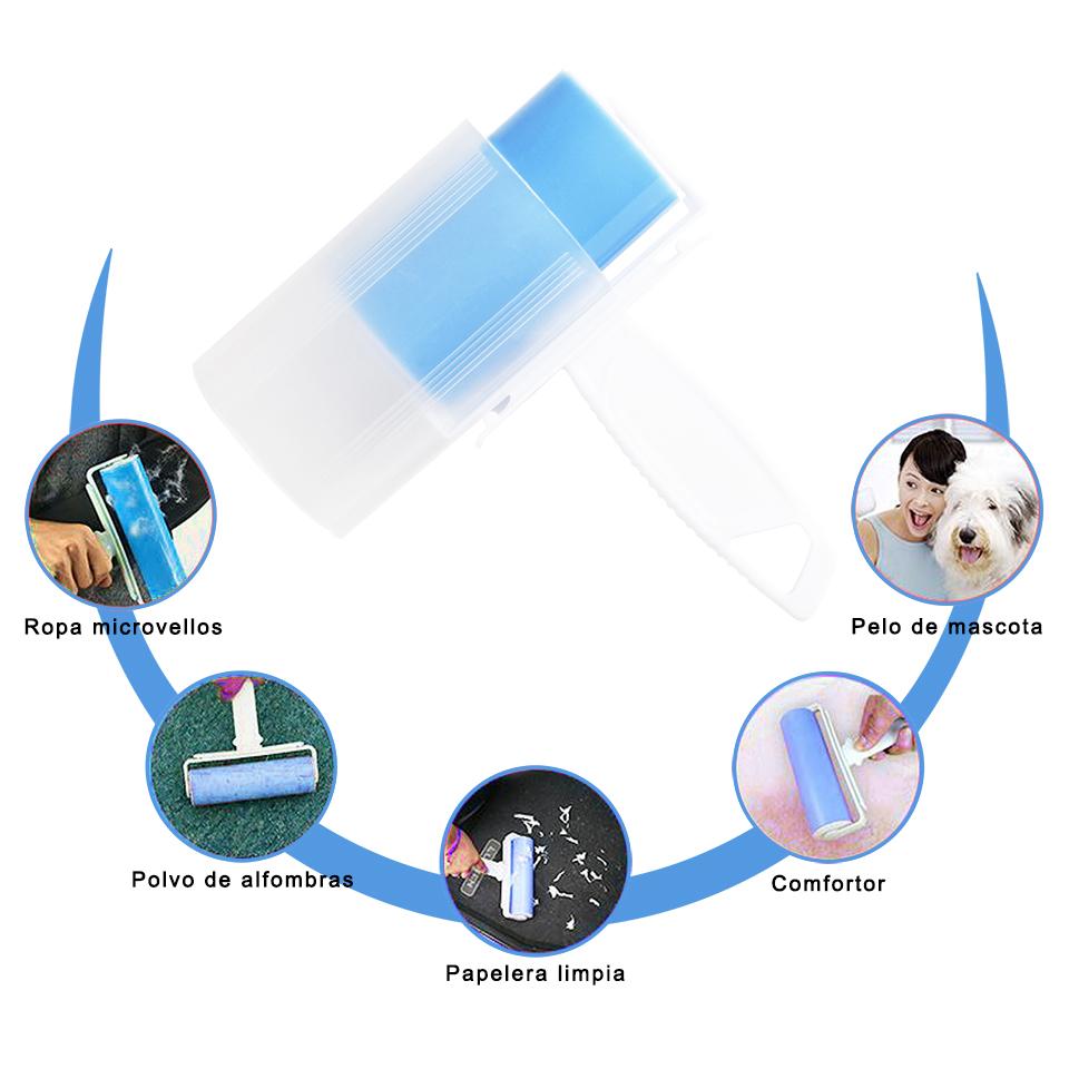 WOWGO reutilizable juego de rodillos de pelusa lavable