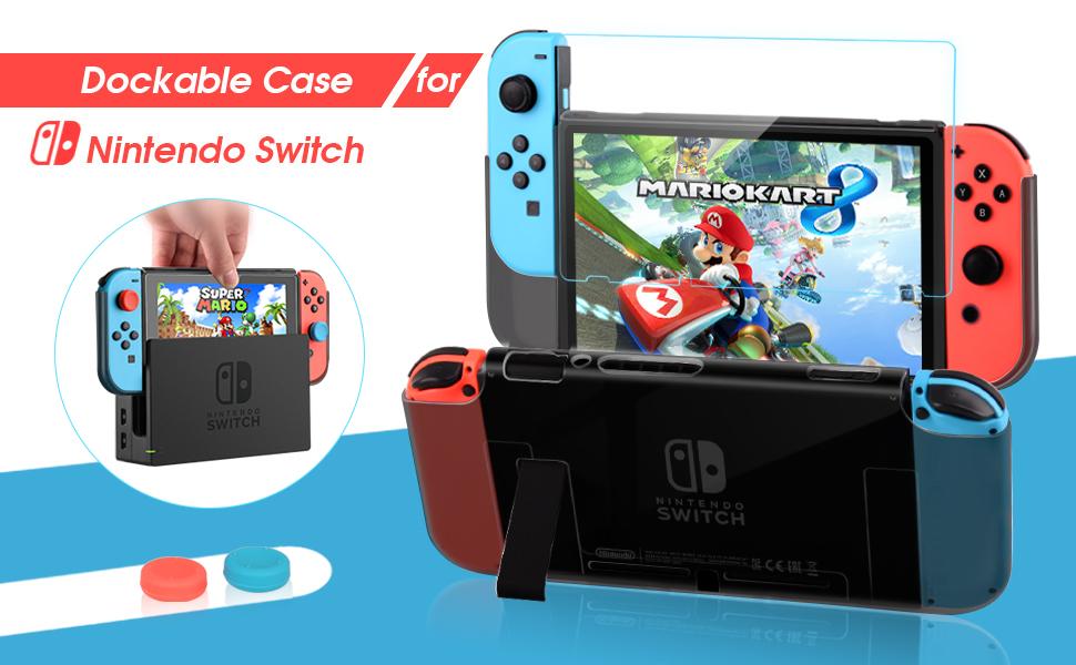 HEYSTOP Carcasa Nintendo Switch, Funda Nintendo Switch con ...