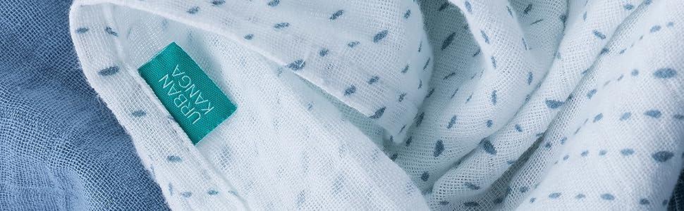 Urban Kanga Muselinas Bebe Algodón 70X70 cm Gasas Bebe Algodón Pack de 3 (Azul): Amazon.es: Bebé