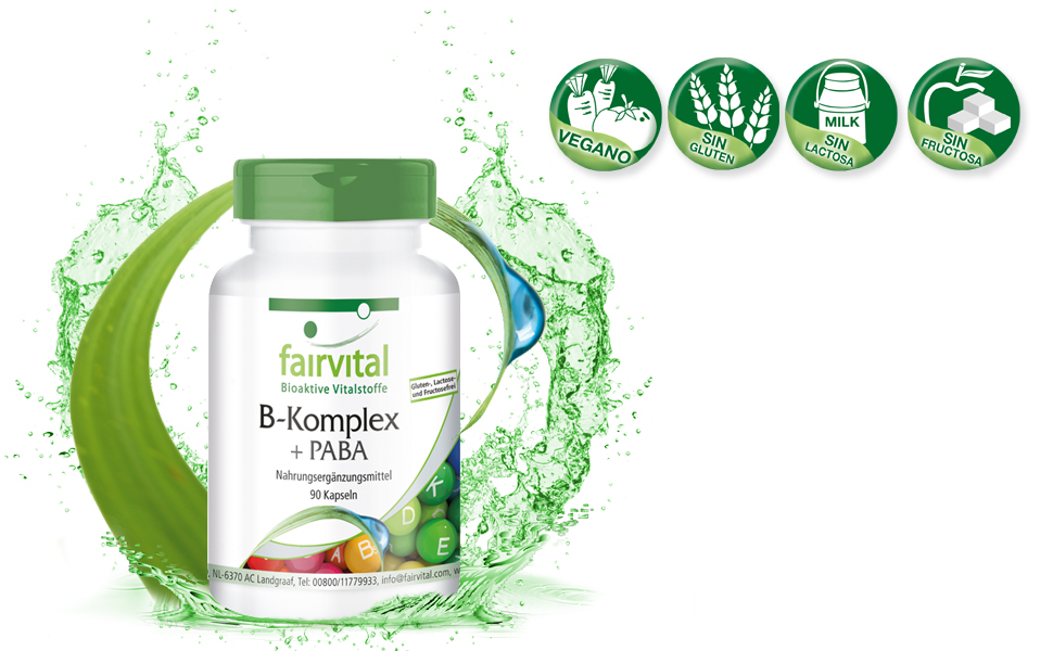 Vitamina B complex PABA - Áácido Para-Aminobenzoico - VEGANO ...