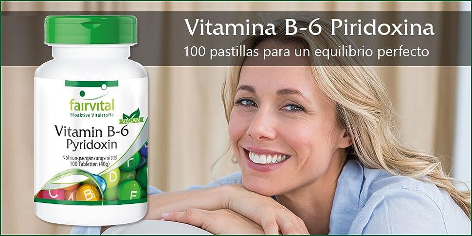 Vitamina B-6 Piridoxina - 100 Pastillas