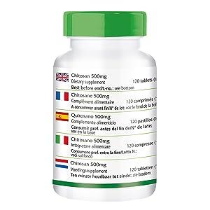 Dos pastillas contienen: Chitosan 1000mg