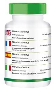 Ultra Man 50 Plus - Altamente dosificado - 60 Comprimidos de ...