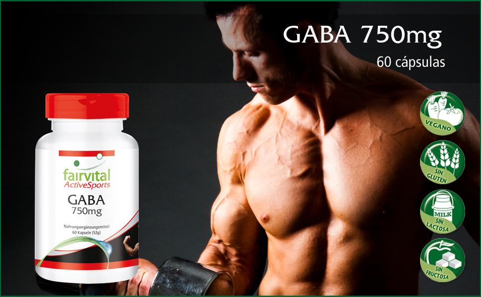 GABA 750mg cápsulas - VEGANO - Altamente dosificado - 60 cápsulas ...