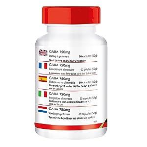 Dos cápsulas contienen: GABA 1500mg