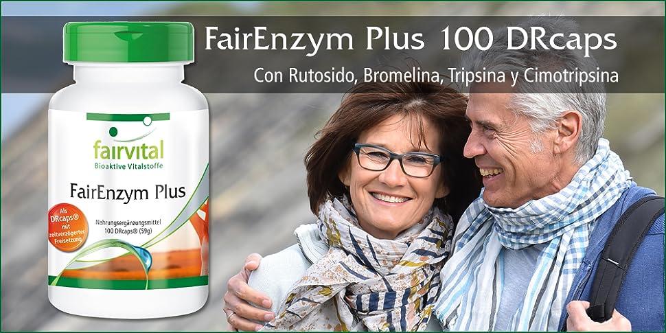 Con Fairenzym Plus de Fairvital se proporciona una base ideal para la quema eficaz de grasa, ya que se estimula el metabolismo y las DRCaps garantizan una ...