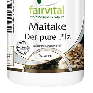 ... Hongo Maitake en polvo (grifola frondosa), recubrimiento de hidroxipropilmetilcelulosa (cubierta de la cápsula), estearato de magnesio