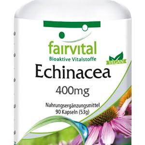 Ingredientes: Equinácea purpúrea en polvo (79,2%), recubrimiento de hidroxipropilmetilcelulosa (cubierta para cápsulas), diluyente (sales de magnesio de los ...