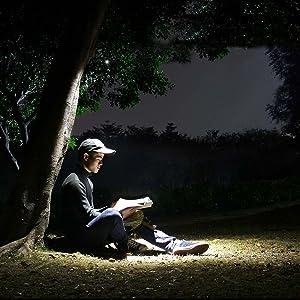 Rojo STRIR Linterna de Trabajo LED COB Lampara de Inspecci/ón Base magn/ética 5 Modos 180 Grados Funci/ón de Luz Roja para Hogar Garaje Taller Reparaci/ón Acampada