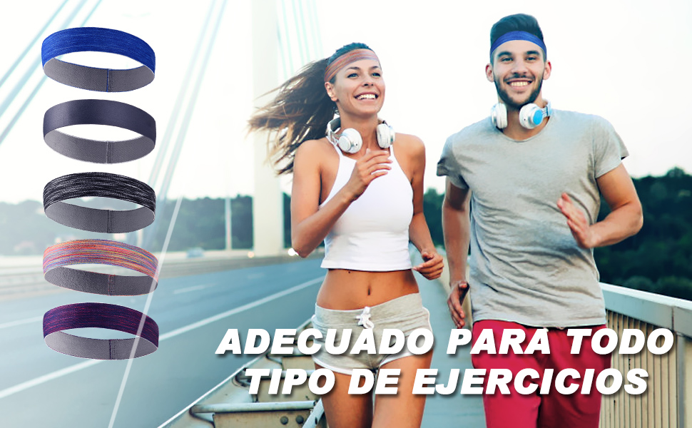 VBIGER Cinta de Pelo Deportiva para Hombres y Mujeres,Banda de ...