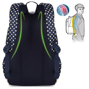 Transpirable y acogedor espalda acolchada correas ajustables reduce presión