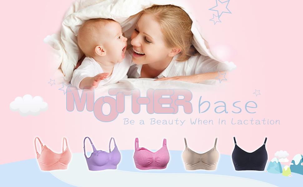 FeelinGirl Sujetador de Maternidad Bra Premamá Sostén de Lactancia para Mujer 2/3 piezas