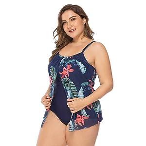 FeelinGirl Mujer Bañador con Falda Traje De Baño De Una Pieza Sexy ...
