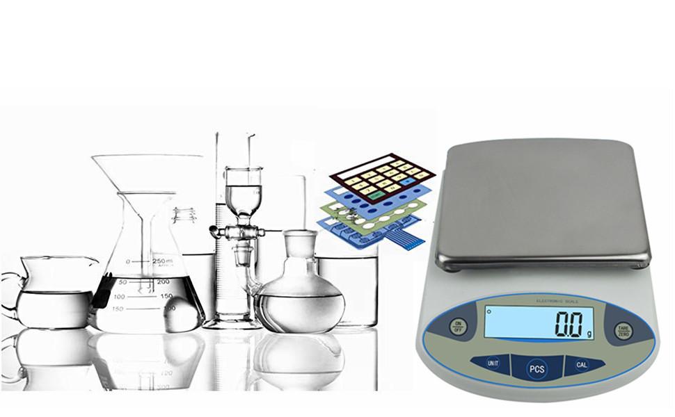 CGOLDENWALL Balanza Científica Analítica de Laboratorio de ...