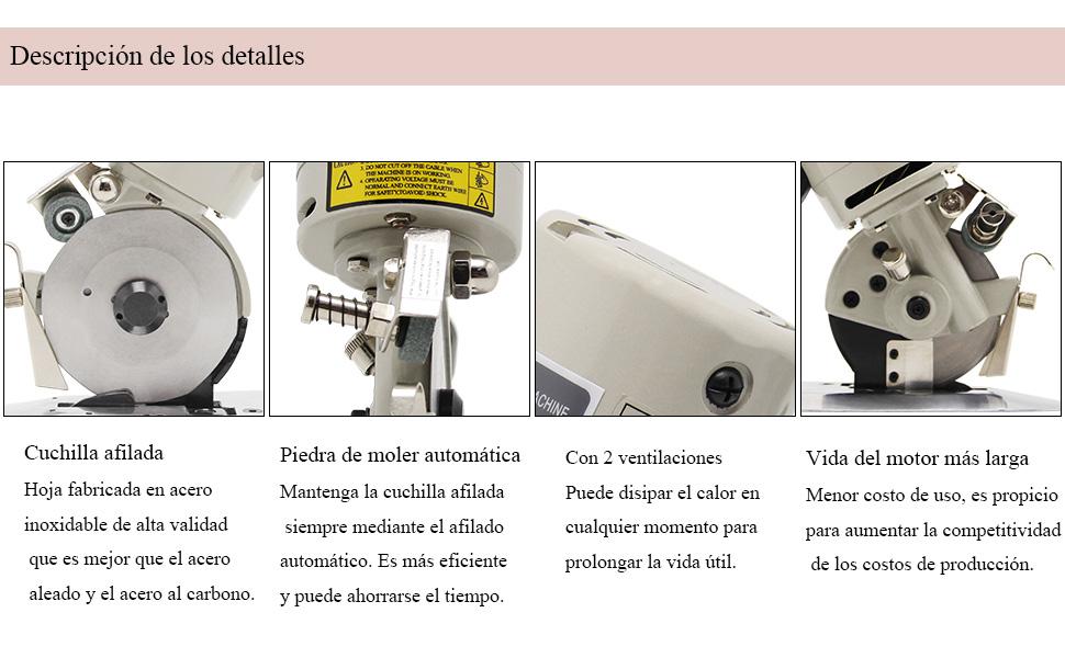 CGOLDENWALL YJ-90B Cortador de Tela Industrial Eléctrico Portátil ...