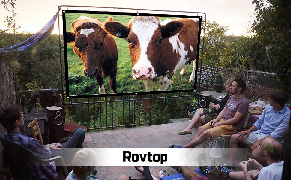 Rovtop Pantalla de proyector de Montaje en Pared/Techo portátil y ...