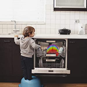 Qshare - Platos de silicona para bebé, una pieza, para bebés y ...