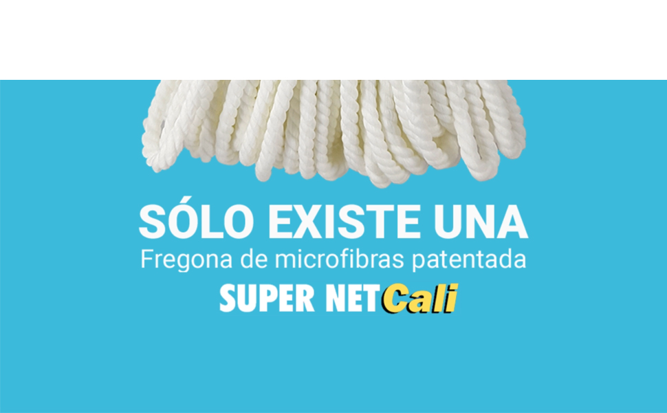 Fregona de Microfibras Super Net Cali. 250 gramos. 2 Unidades ...