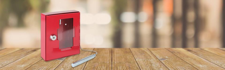 HMF 1021-03 Caja de llaves de emergencia con martillo 15 x