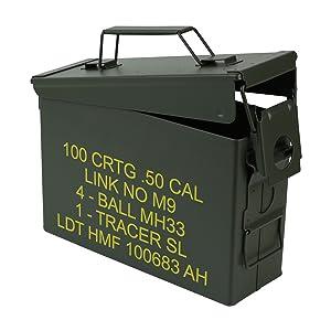 La caja de munición está equipada con un seguro de servicio pesado y una manija resistente, de modo que incluso los contenidos pesados pueden transportarse ...