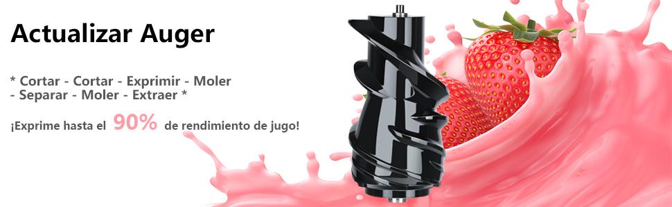 Aobosi Slow Juicer Licuadora para Fruta y Verdura de Prensado en Frio Extractor de Jugos para Fruta Entera con Baja Velocidad de 45RPM Tapa Antigoteo ...