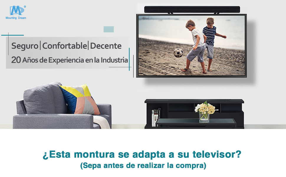 Mounting  Dream Soporte de Pared TV Giratorio e Inclinable MD2377-02
