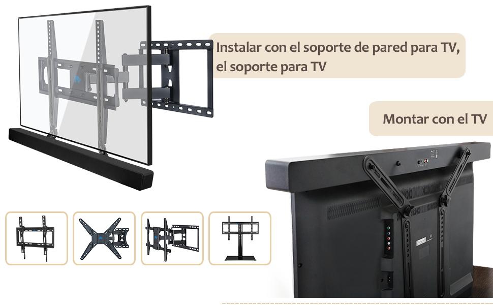 TV-Soundbar-Soporte Soporte de Barra de Sonido