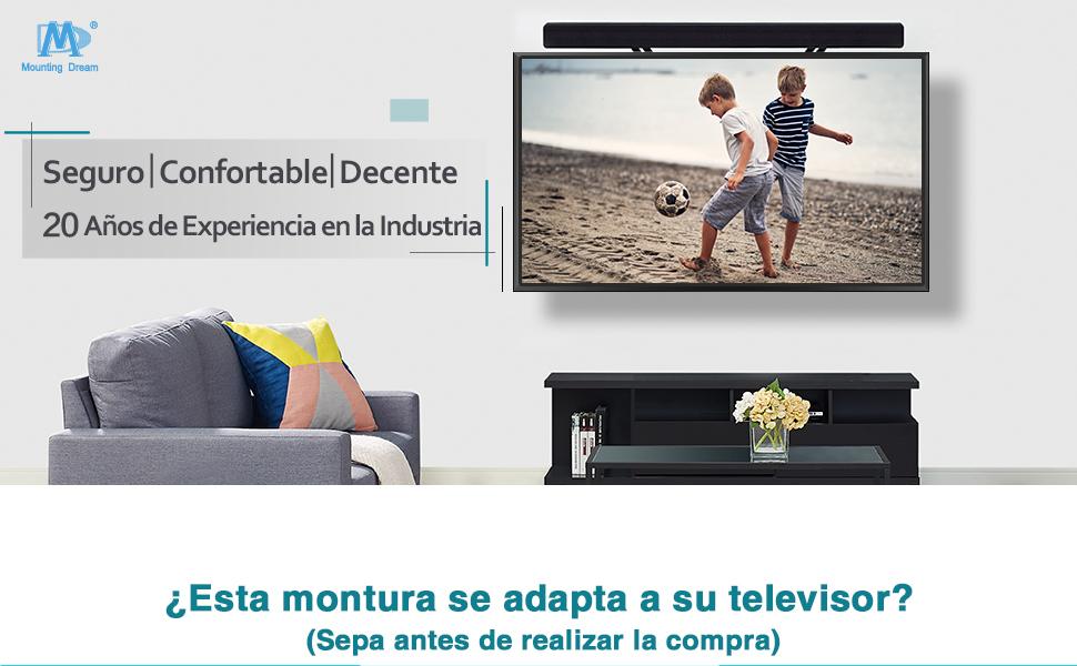 Mounting Dream Soporte de Pared TV Giratorio Inclinable