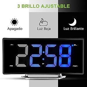 PICTEK Despertador Proyector, Radio Despertador Digital con ...