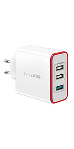 BlitzWolf [Quick Charge 3.0] Cargador USB de Pared, 30W QC3 ...
